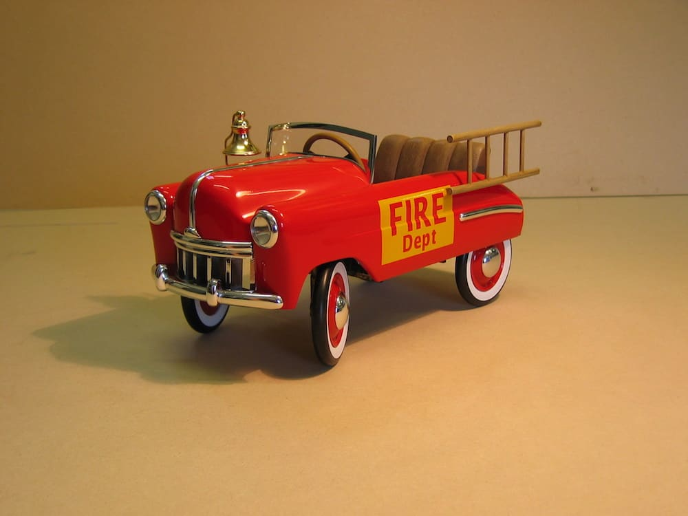Animatable fire truck for a stop frame animation commercial.