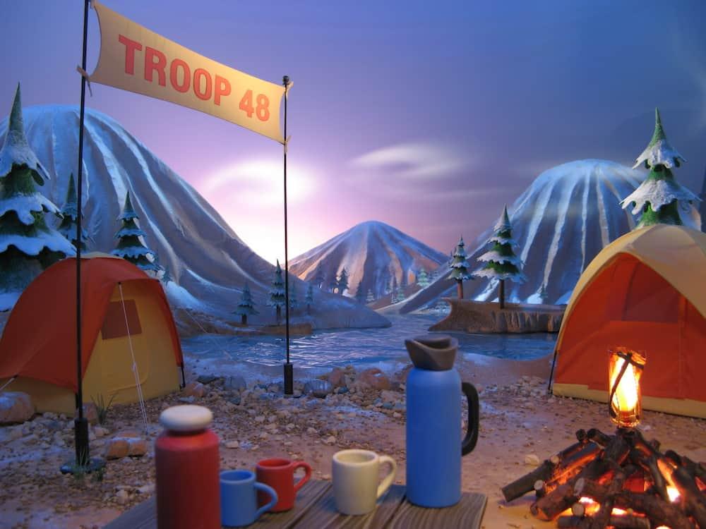 puffs campfire animation set