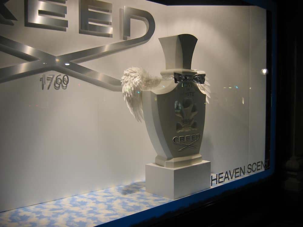 Creed bottle for Selfridges window