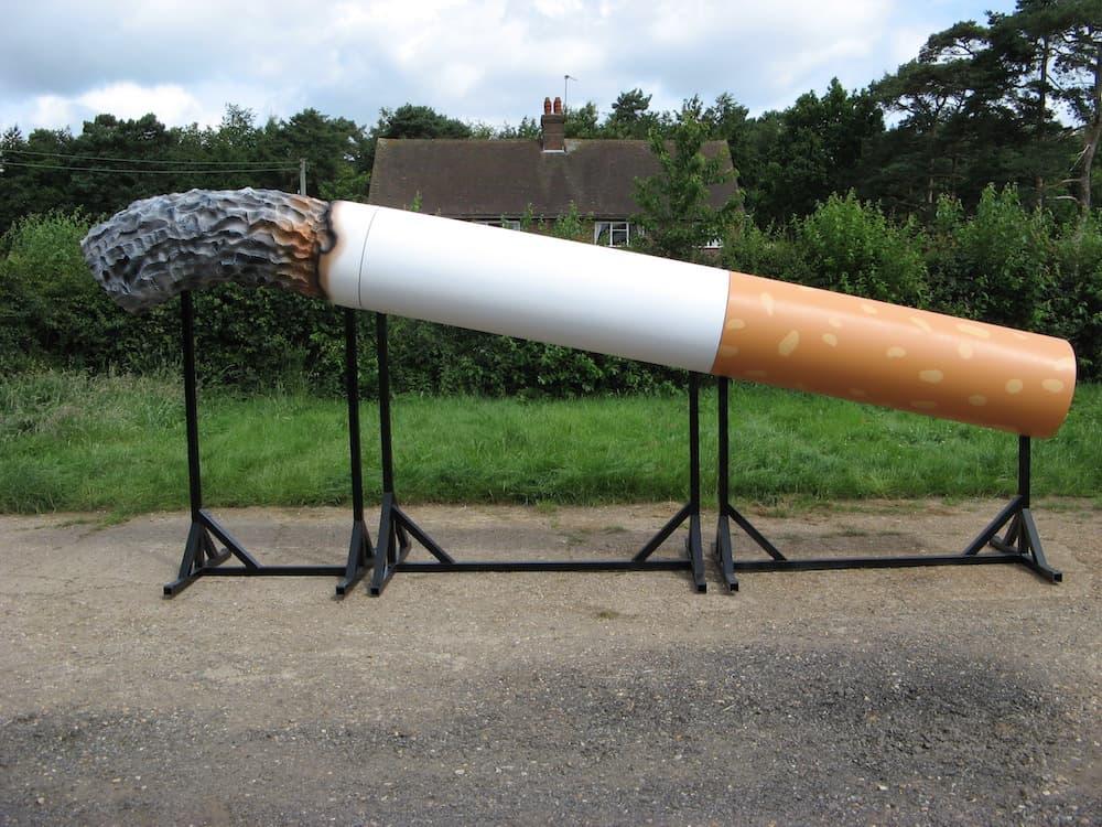 Trailer mounted massive cigarette for Lloyds Pharmacy.