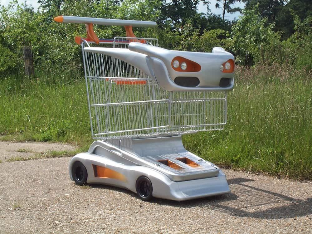 Boy racer shopping trolley for Sainsburys.