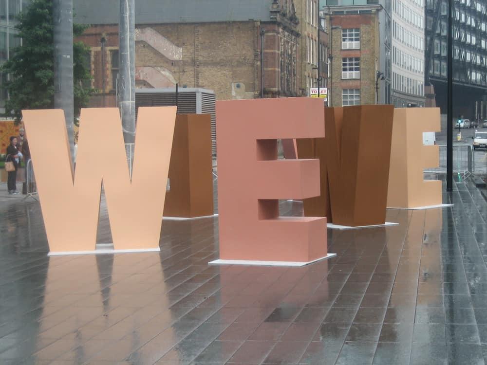 'WE' Sculpture